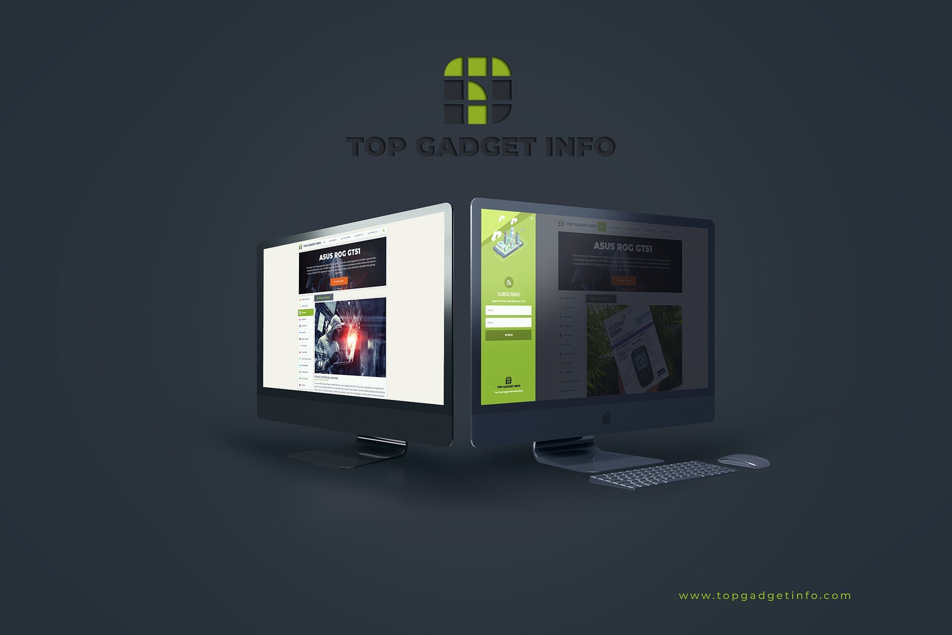Top Gadget Info Web UI Mock-Up 1