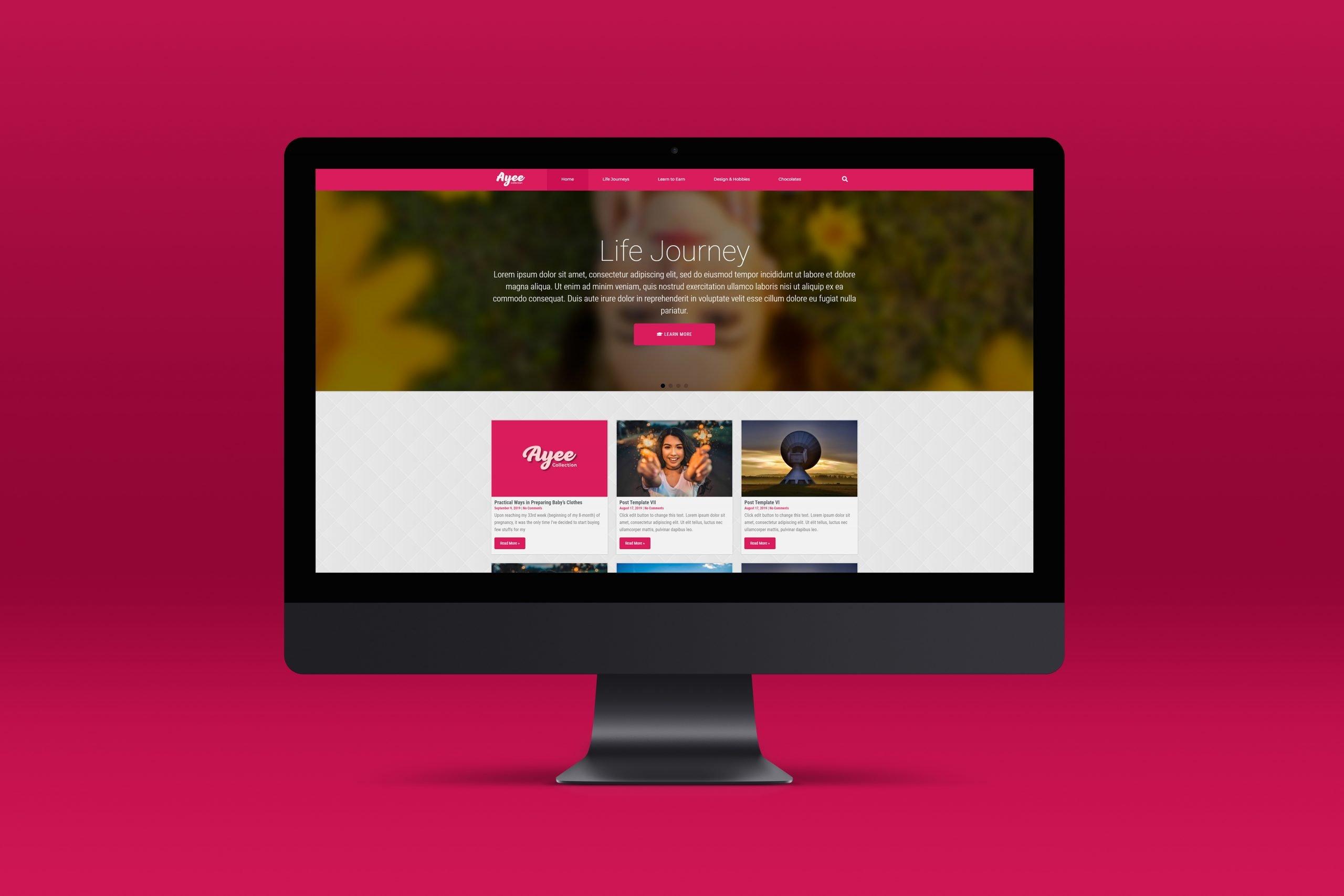 Ayee Collection Web UI Mock-Up 4