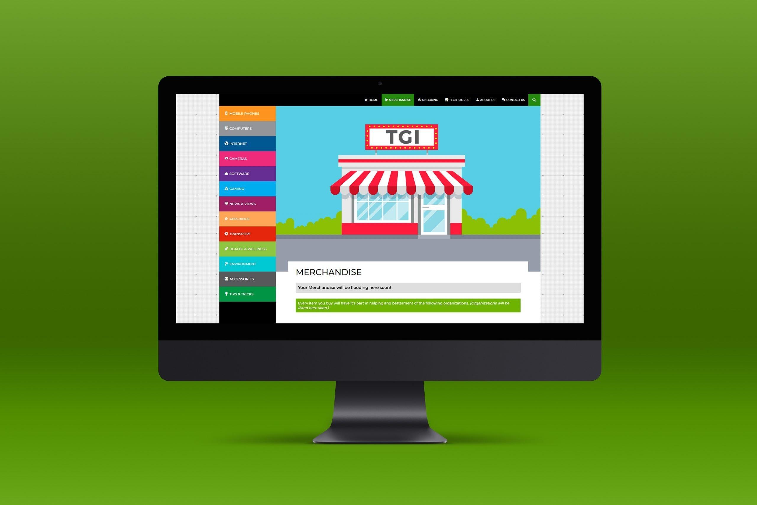 Top Gadget Info Web UI Mock-Up 1